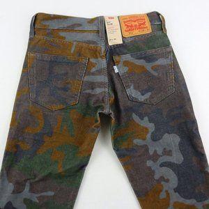 Levis 28x30 Slim Camo Corduroy Stretch Jeans Pants
